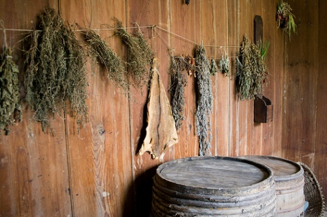 hanging-dried-herbs
